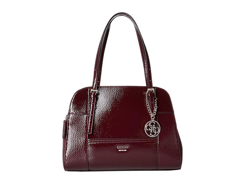GUESS - Huntley Cali Satchel (Bordeaux) Satchel Handbags