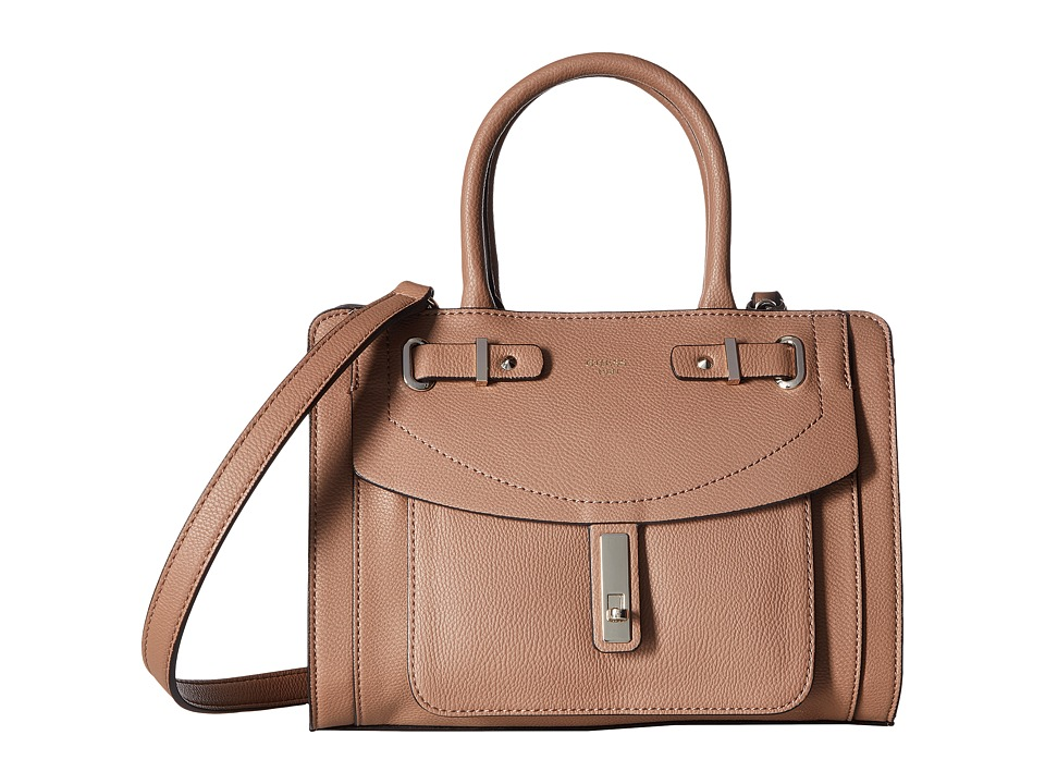 GUESS - Kingsley Small Satchel (Latte) Satchel Handbags