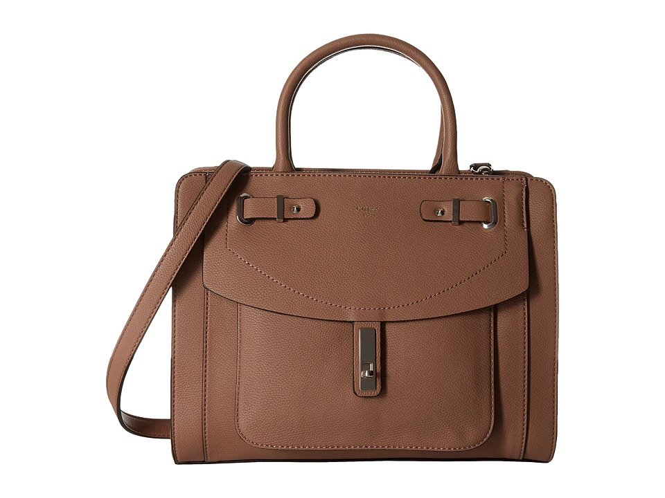 GUESS - Kingsley Girlfriend Satchel (Latte) Satchel Handbags