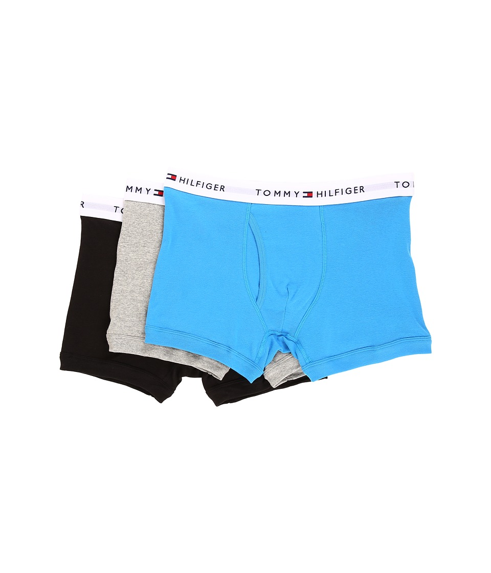 Tommy Hilfiger - Cotton Trunk 3-Pack (Teal) Men's Underwear