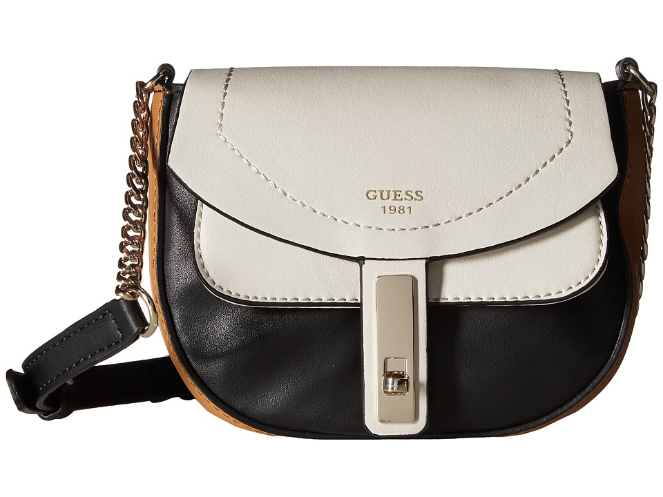 GUESS - Kingsley Petite Crossbody Flap (Stone Multi) Cross Body Handbags