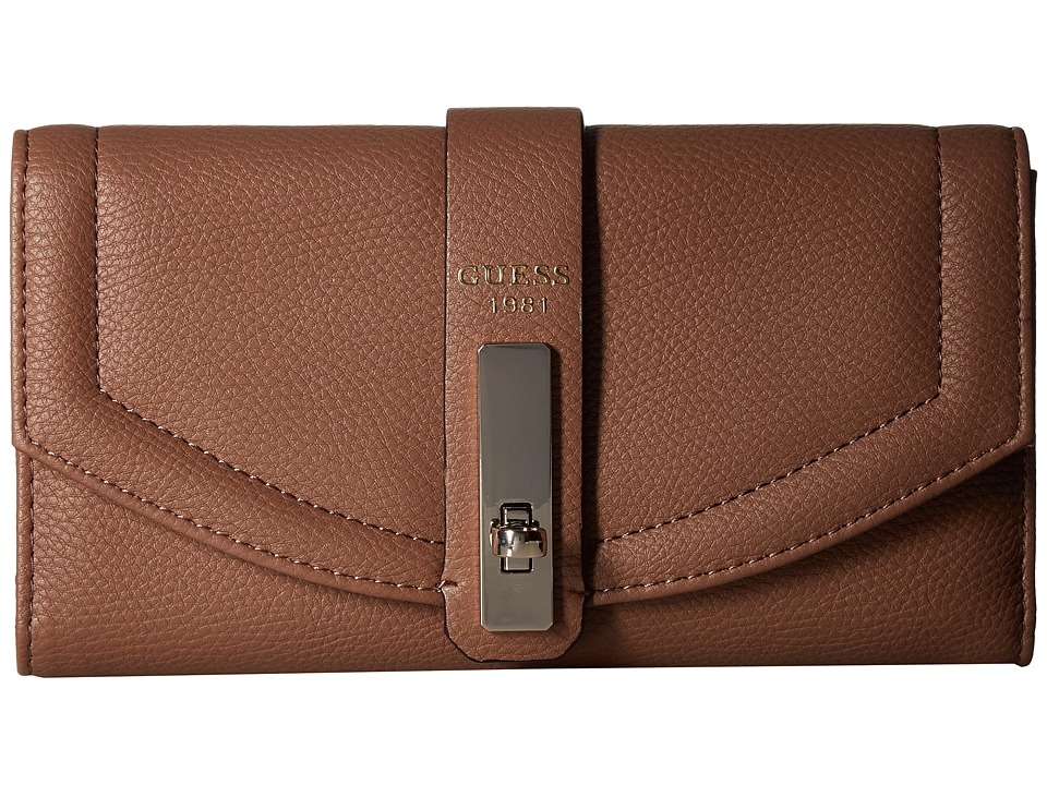 GUESS - Kingsley SLG Multi Clutch (Latte) Clutch Handbags