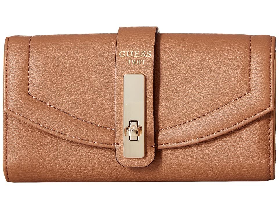 GUESS - Kingsley SLG Slim Clutch (Latte) Clutch Handbags
