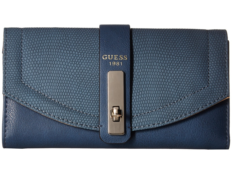 GUESS - Kingsley SLG Multi Clutch (Blue) Clutch Handbags