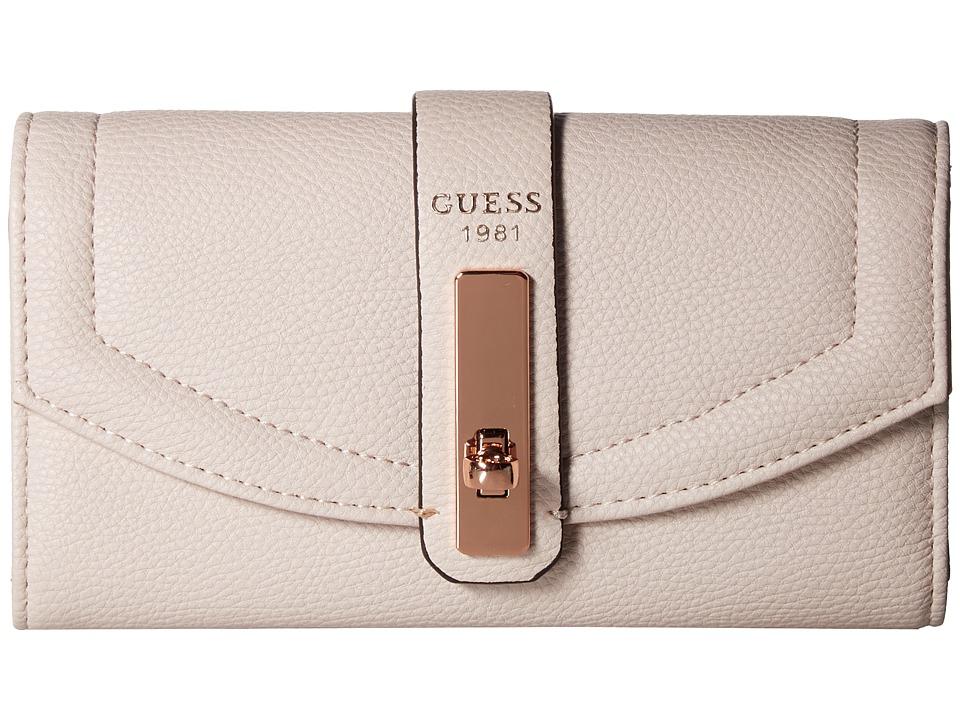 GUESS - Kingsley SLG Slim Clutch (Powder) Clutch Handbags