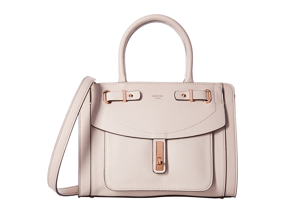 GUESS - Kingsley Small Satchel (Powder) Satchel Handbags