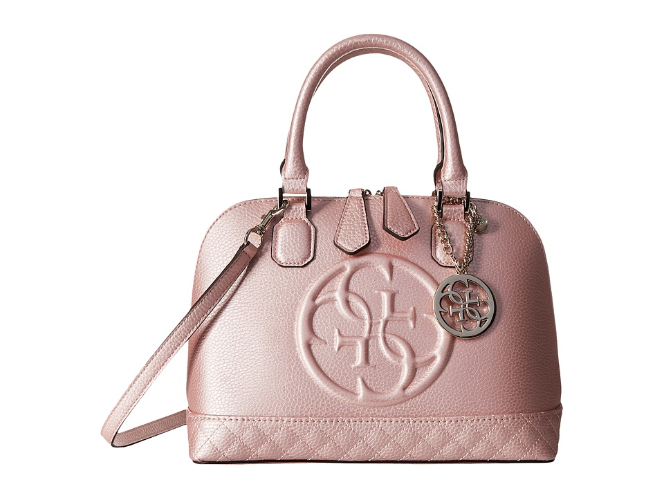 GUESS - Korry Small Dome Satchel (Bublegum) Satchel Handbags