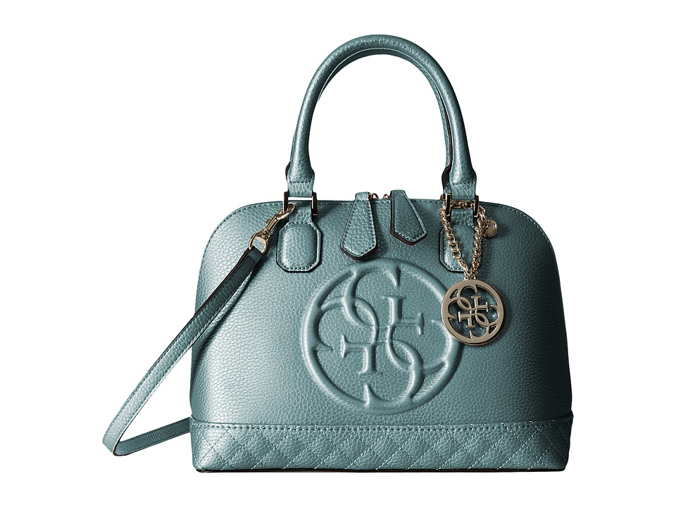 GUESS - Korry Small Dome Satchel (Petrol) Satchel Handbags