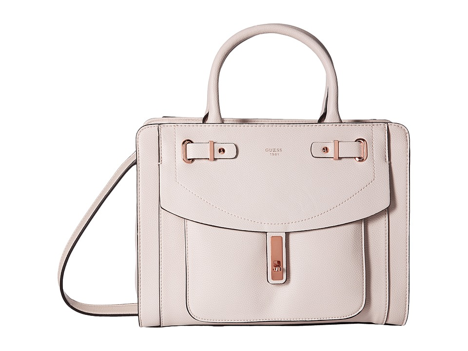 GUESS - Kingsley Girlfriend Satchel (Powder) Satchel Handbags
