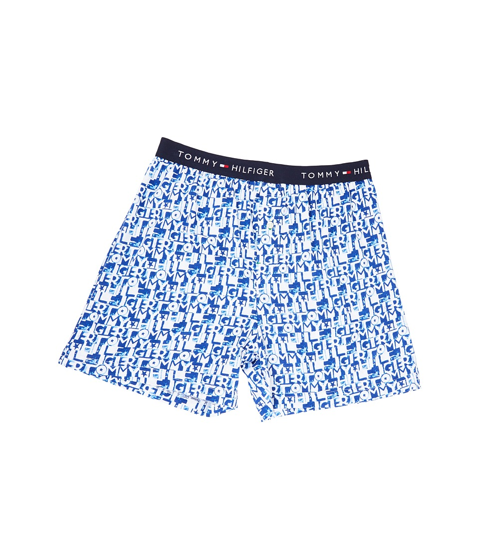 Tommy Hilfiger - Fashion Knit Boxer (Atlantic) Men's Underwear