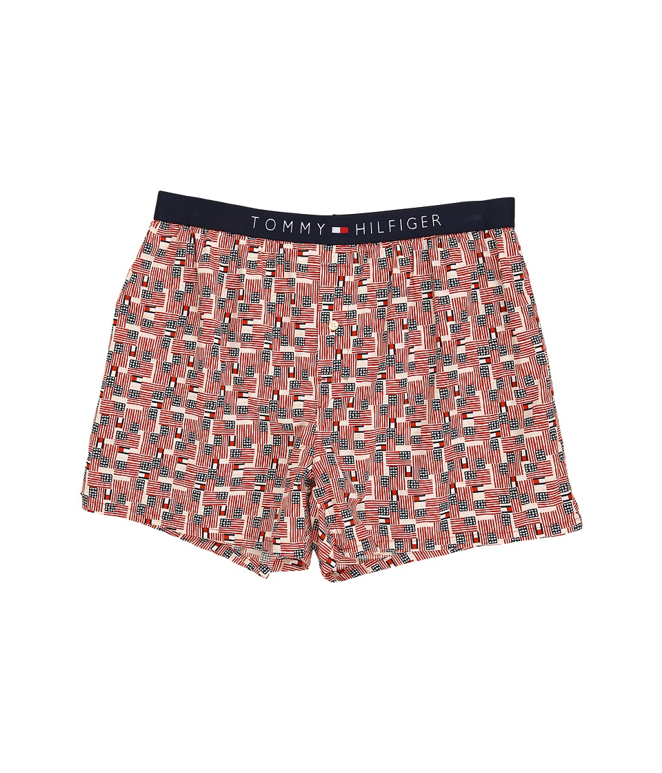 Tommy Hilfiger - Icon Slim Woven Boxer (Red Multi) Men's Underwear