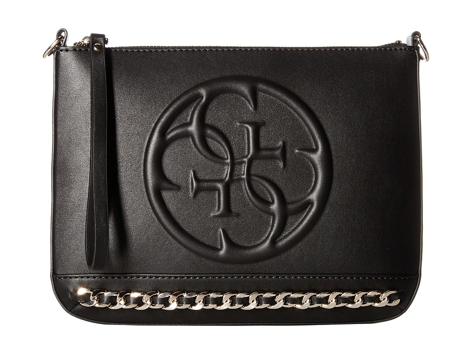 GUESS - Korry Crossbody Clutch (Black) Clutch Handbags