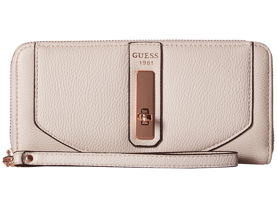 GUESS - Kingsley SLG Large Zip Around (Powder) Handbags