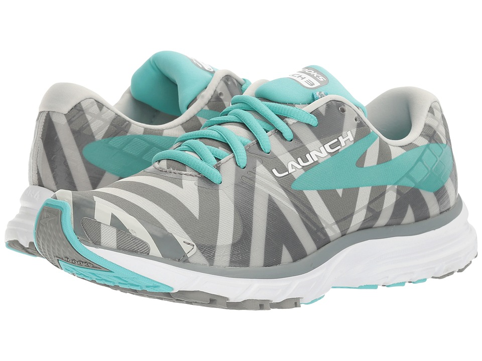 Brooks - Launch 3 (Moon Grey/Blue Radience/Primer Grey) Women's Shoes