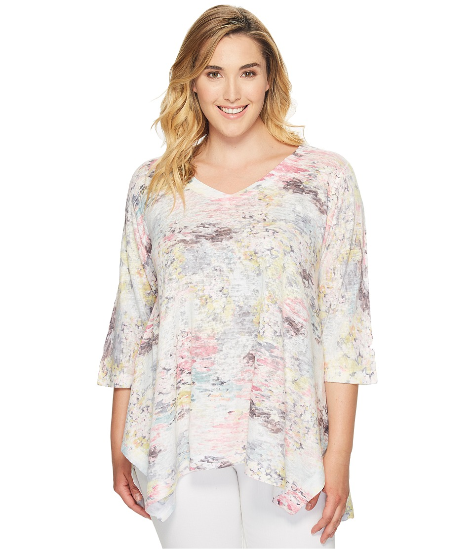 Nally & Millie - Plus Size Pastel Printed Tunic (Multicolor) Women's Clothing