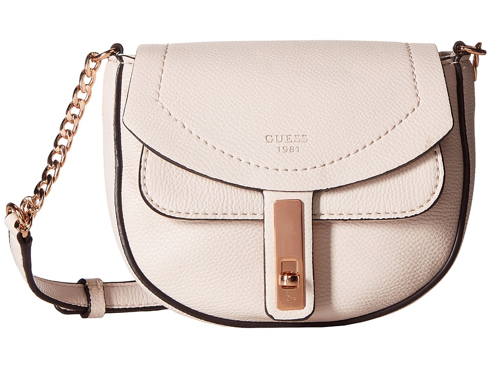 GUESS - Kingsley Petite Crossbody Flap (Powder) Cross Body Handbags