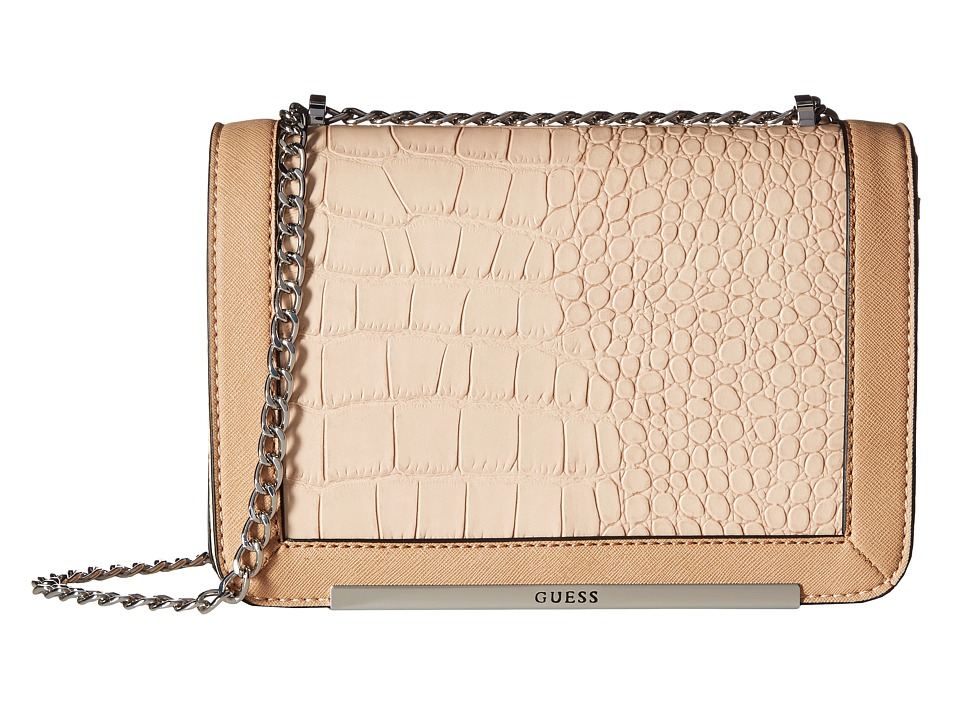 GUESS - Kingville Crossbody Flap (Nude) Cross Body Handbags