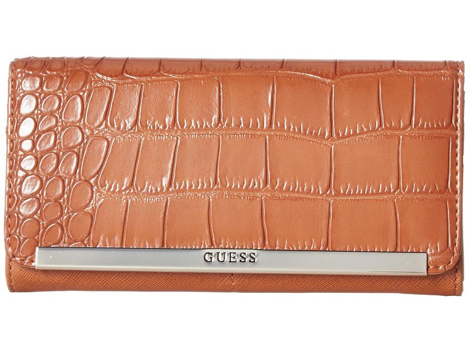 GUESS - Kingville SLG Multi Organizer (Cognac) Handbags