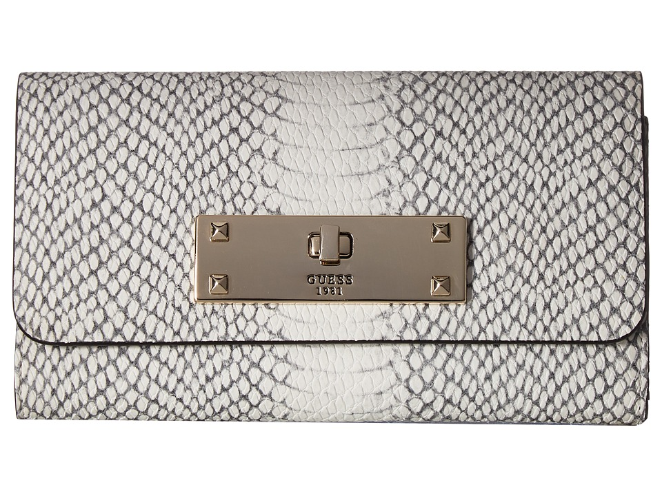 GUESS - Kyra SLG Slim Clutch (Python) Clutch Handbags