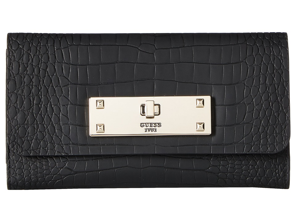 GUESS - Kyra SLG Slim Clutch (Black) Clutch Handbags