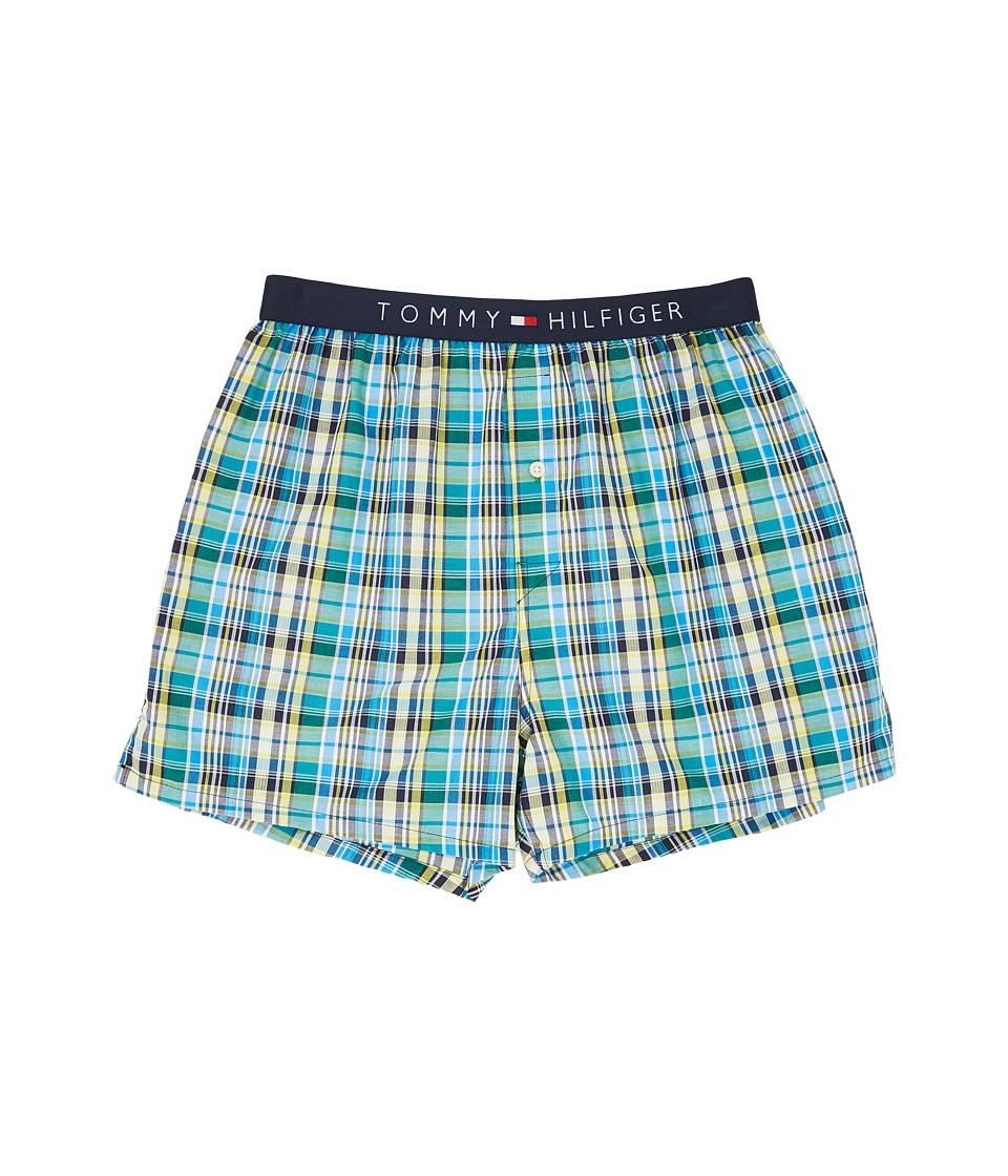 Tommy Hilfiger - Fashion Woven Boxer (Jade) Men's Underwear