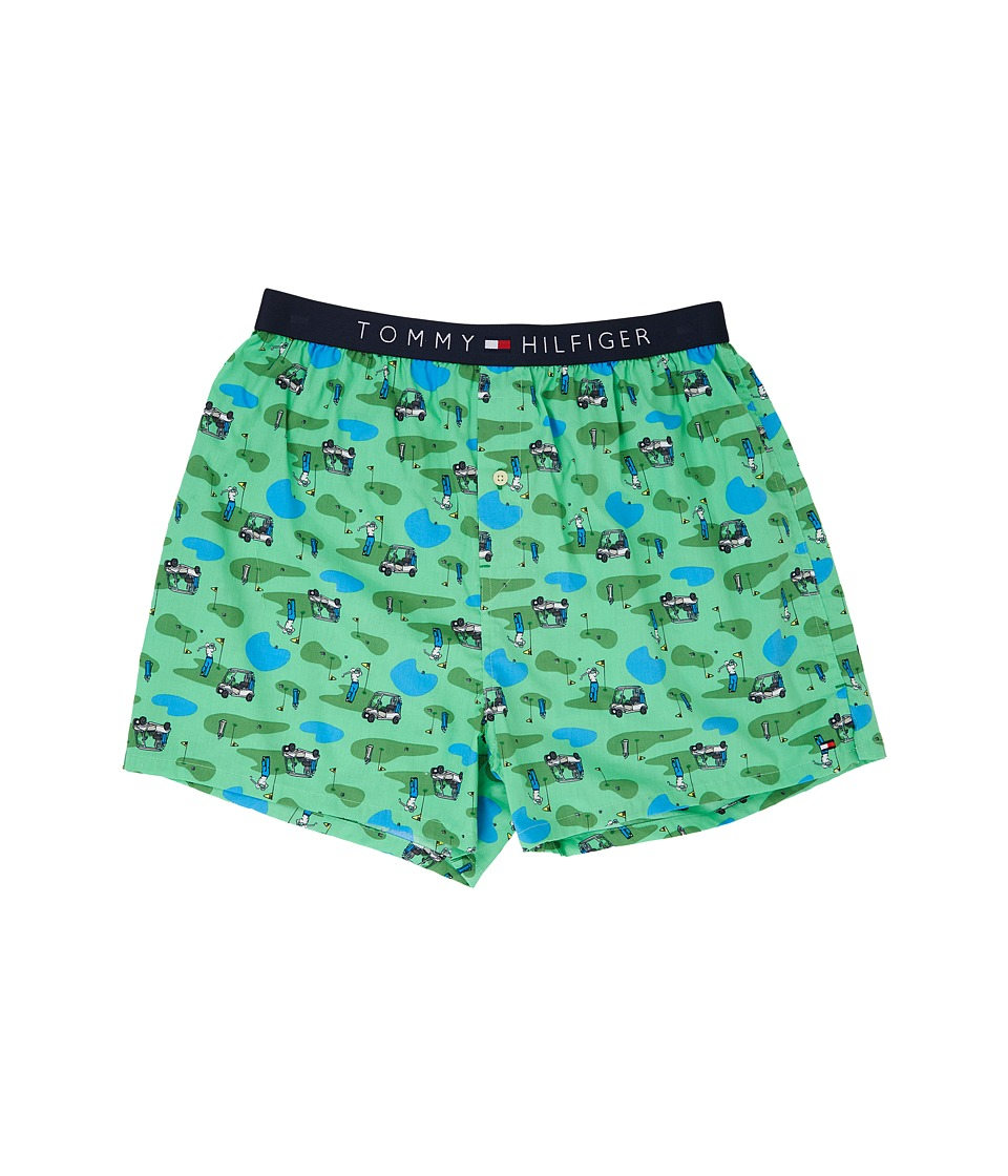 Tommy Hilfiger - Fashion Woven Boxer (Grass) Men's Underwear