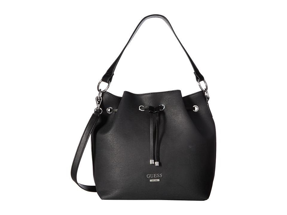 GUESS - Largo Drawstring (Black) Drawstring Handbags