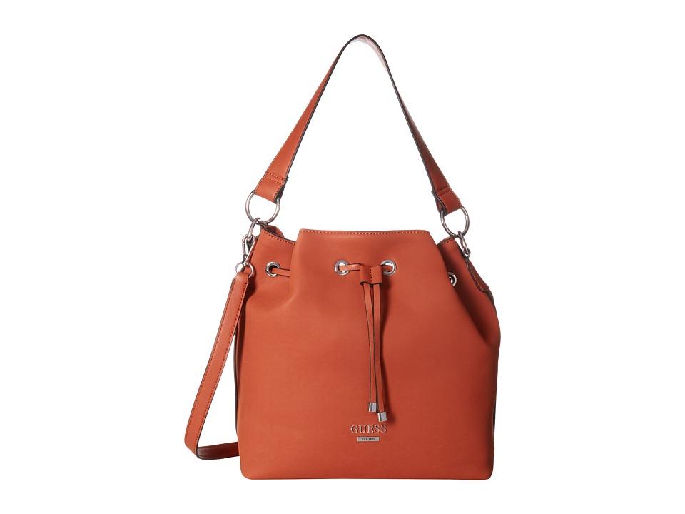 GUESS - Largo Drawstring (Spice) Drawstring Handbags