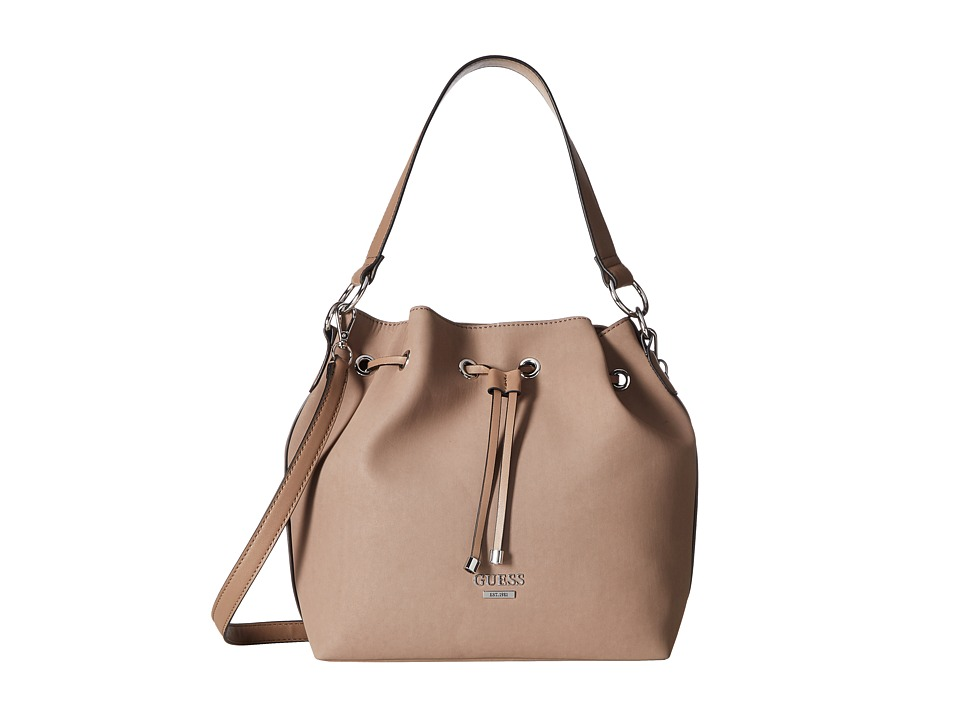 GUESS - Largo Drawstring (Taupe) Drawstring Handbags