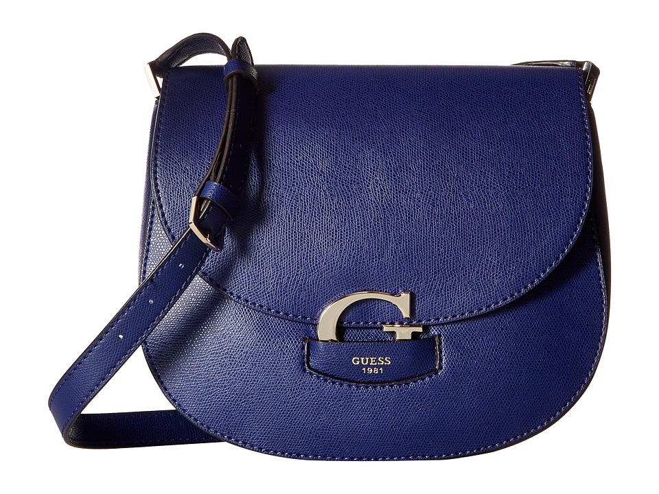 GUESS - Lexxi Saddle Bag (Sapphire) Handbags