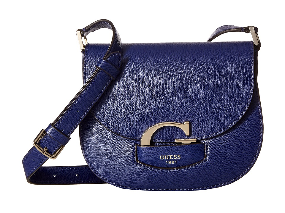 GUESS - Lexxi Crossbody Saddle Bag (Sapphire) Cross Body Handbags