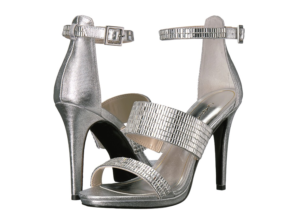 Caparros - I-Star (Silver Metallic Fabric) High Heels