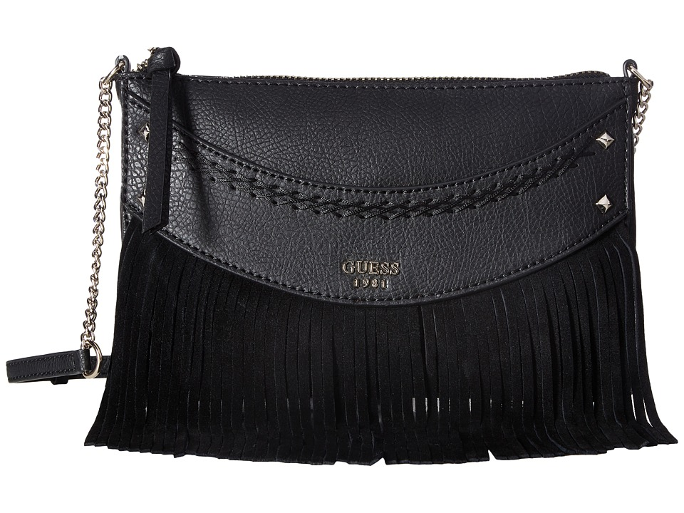 GUESS - Solene Crossbody Top Zip (Black) Cross Body Handbags