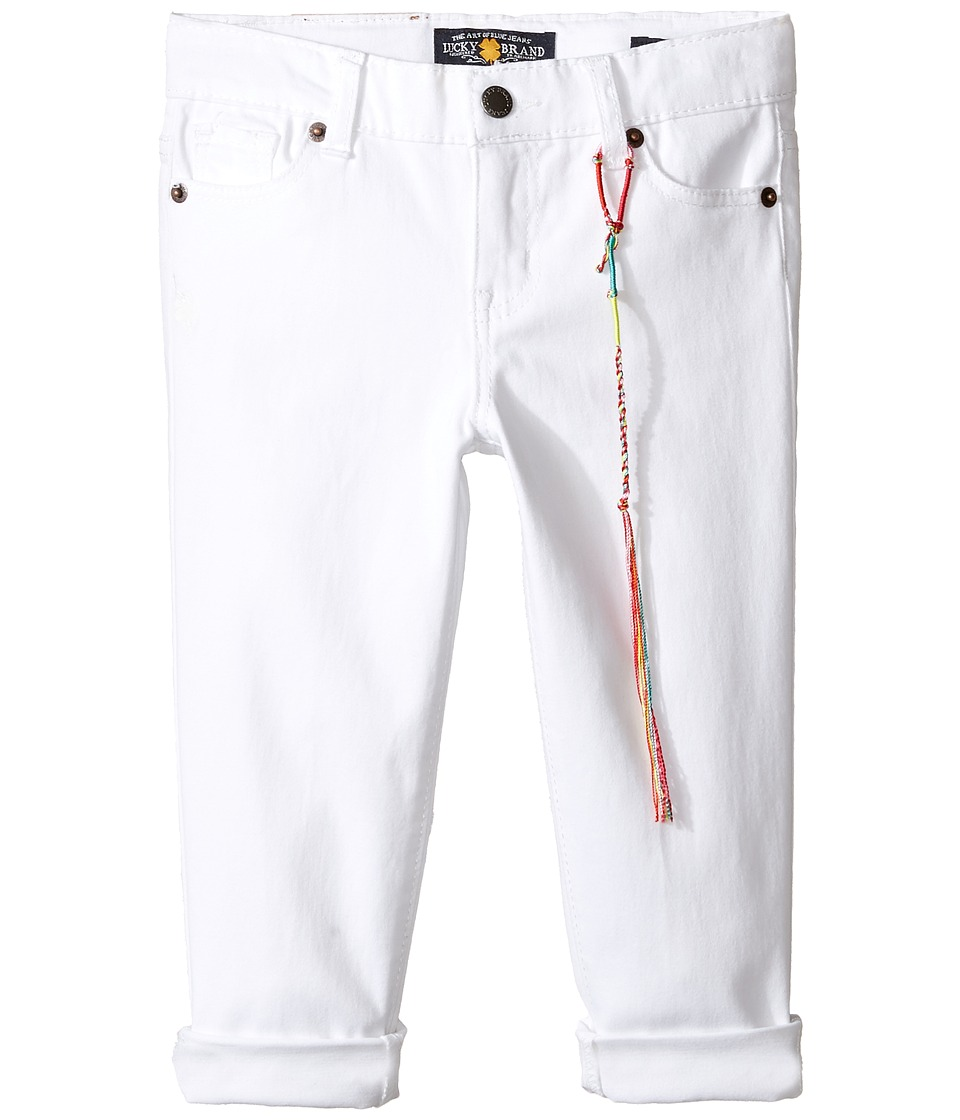 Lucky Brand Kids - Zoe Ankle Pants with Roll Cuff (Little Kids) (Bright White) Girl's Casual Pants
