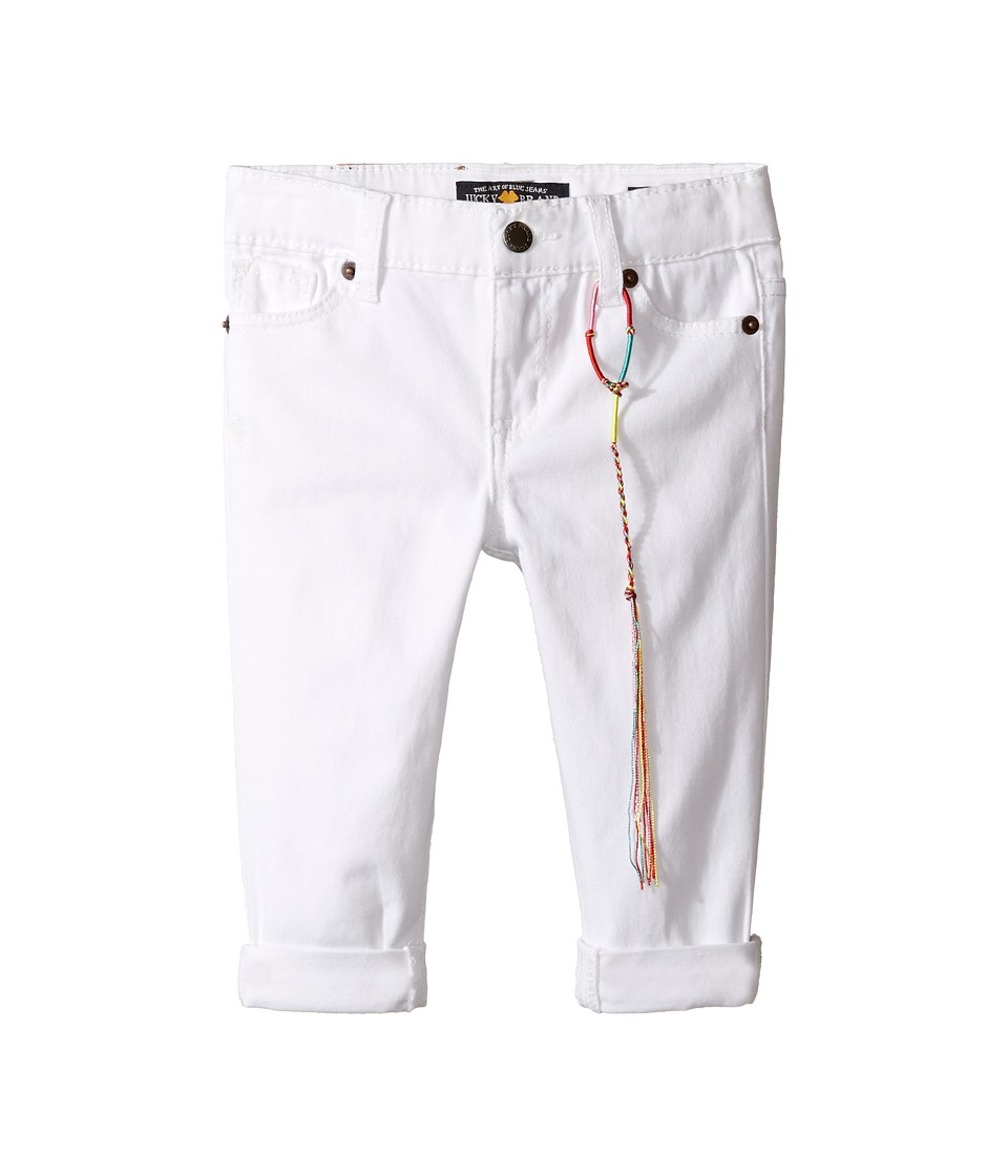 Lucky Brand Kids - Zoe Ankle Pants with Roll Cuff (Toddler) (Bright White) Girl's Casual Pants