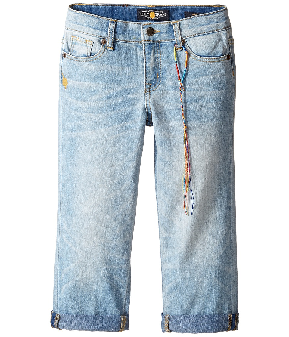 Lucky Brand Kids - Zoe Ankle Pants with Roll Cuff (Little Kids) (Bluegrass Wash) Girl's Casual Pants