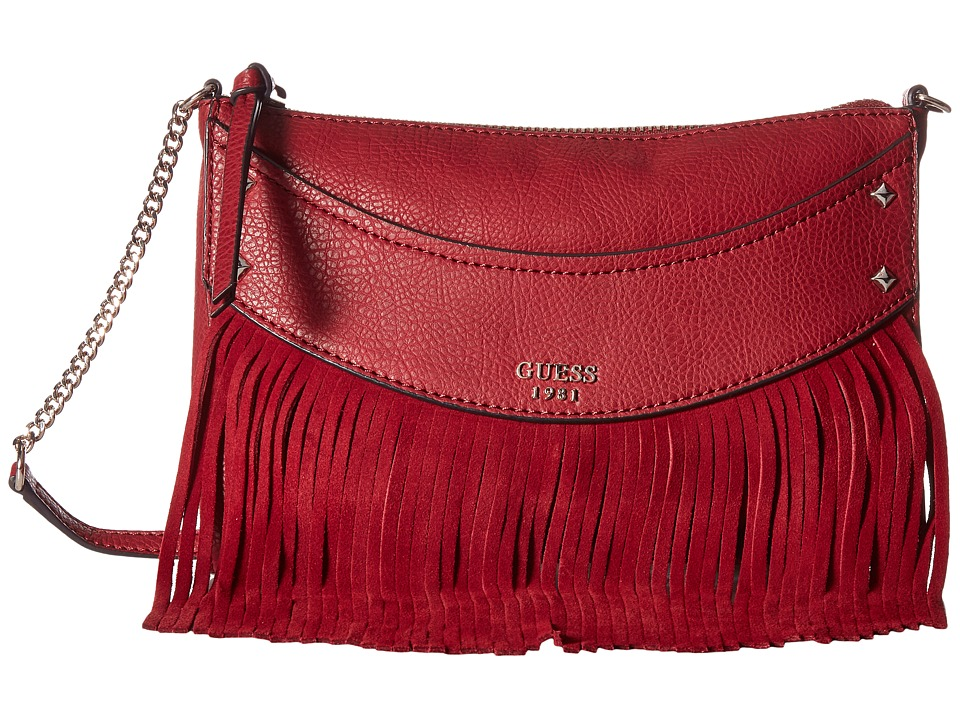 GUESS - Solene Crossbody Top Zip (Bordeaux) Cross Body Handbags