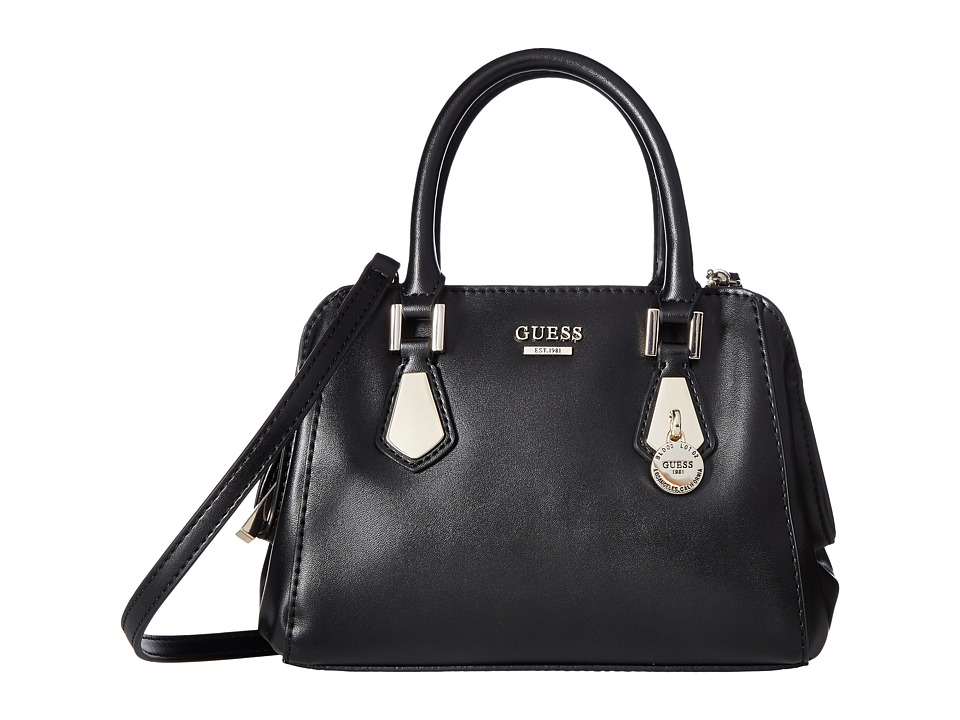 GUESS - Sofie Petite Satchel (Black) Satchel Handbags