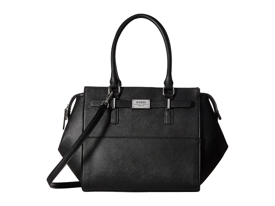 GUESS - Present Satchel (Black) Satchel Handbags