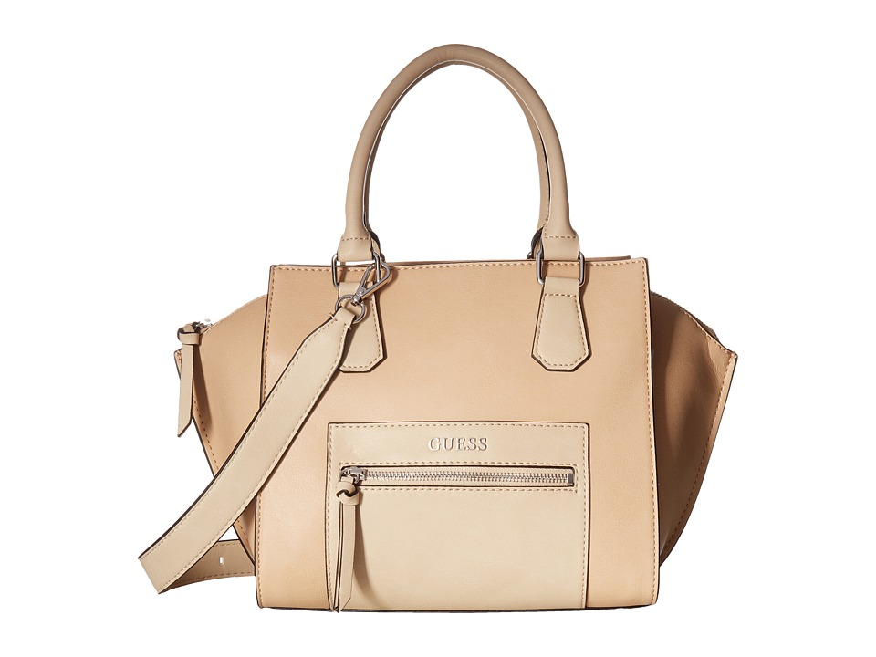 GUESS - Mill Creek Satchel (Nude Multi) Satchel Handbags