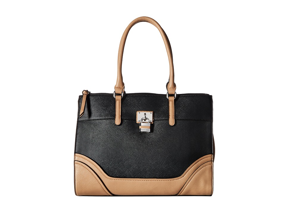 GUESS - Paradis Carryall (Black Multi) Handbags