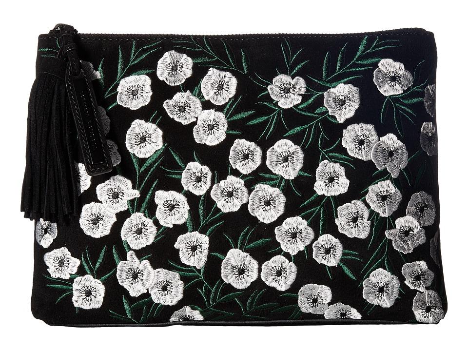 Loeffler Randall - Tassel Pouch (Black/Anemone) Clutch Handbags