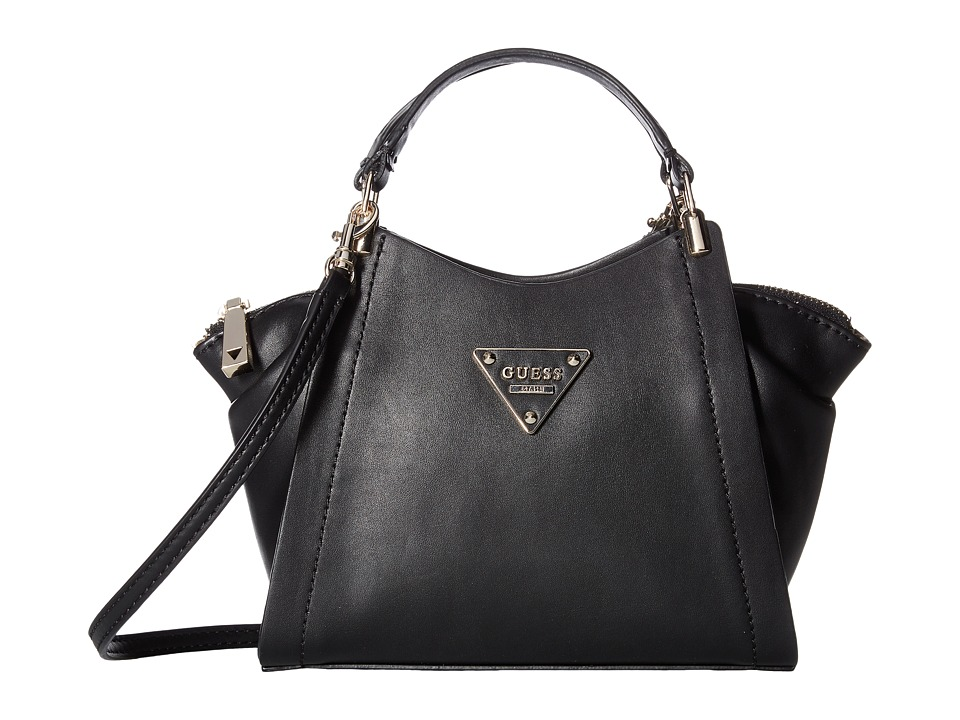 GUESS - Thompson Petite Satchel (Black) Satchel Handbags