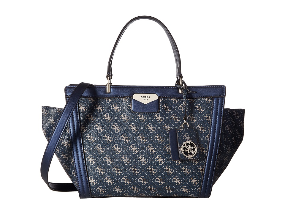 GUESS - Taree Satchel (Sapphire) Satchel Handbags