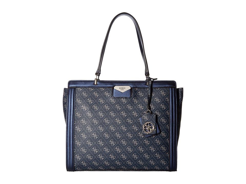 GUESS - Taree Tote (Sapphire) Tote Handbags