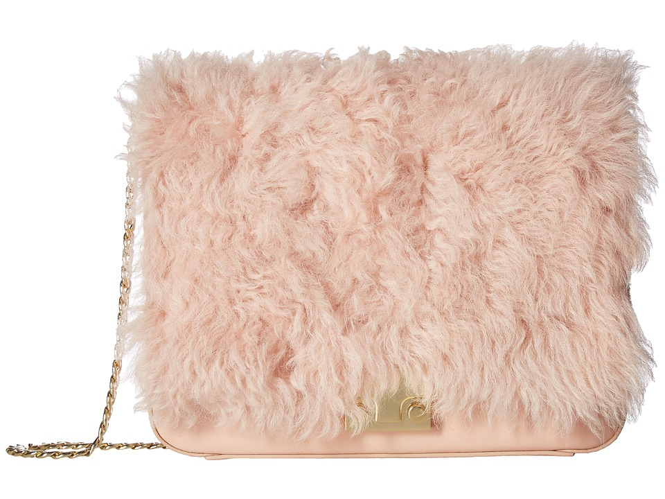 Loeffler Randall - Lock Shoulder (Pale Pink/Sand) Shoulder Handbags