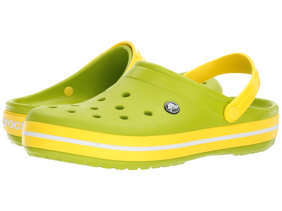 Crocs - Crocband (Volt Green/Lemon) Clog Shoes
