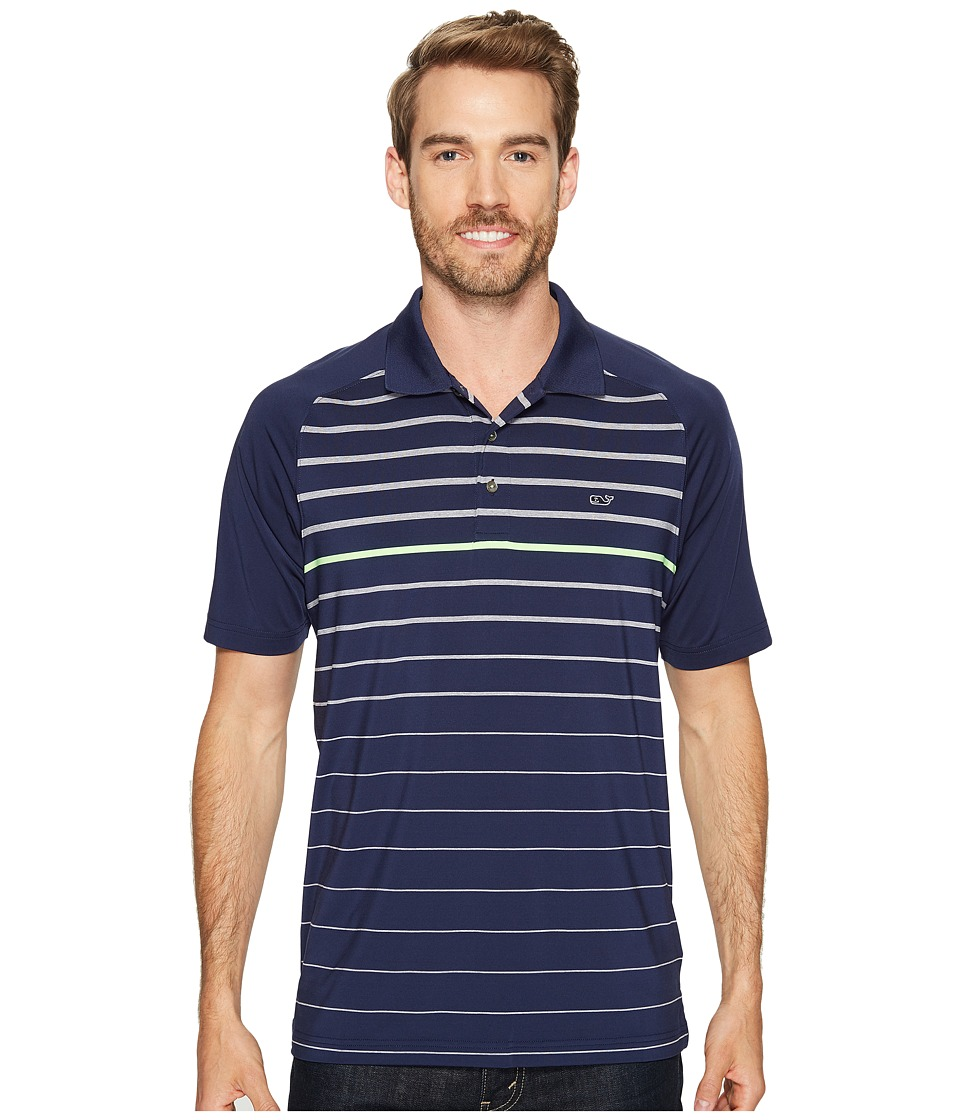 Vineyard Vines Golf - Watch Hill Stripe Shirt (Night Bay) Men's Clothing