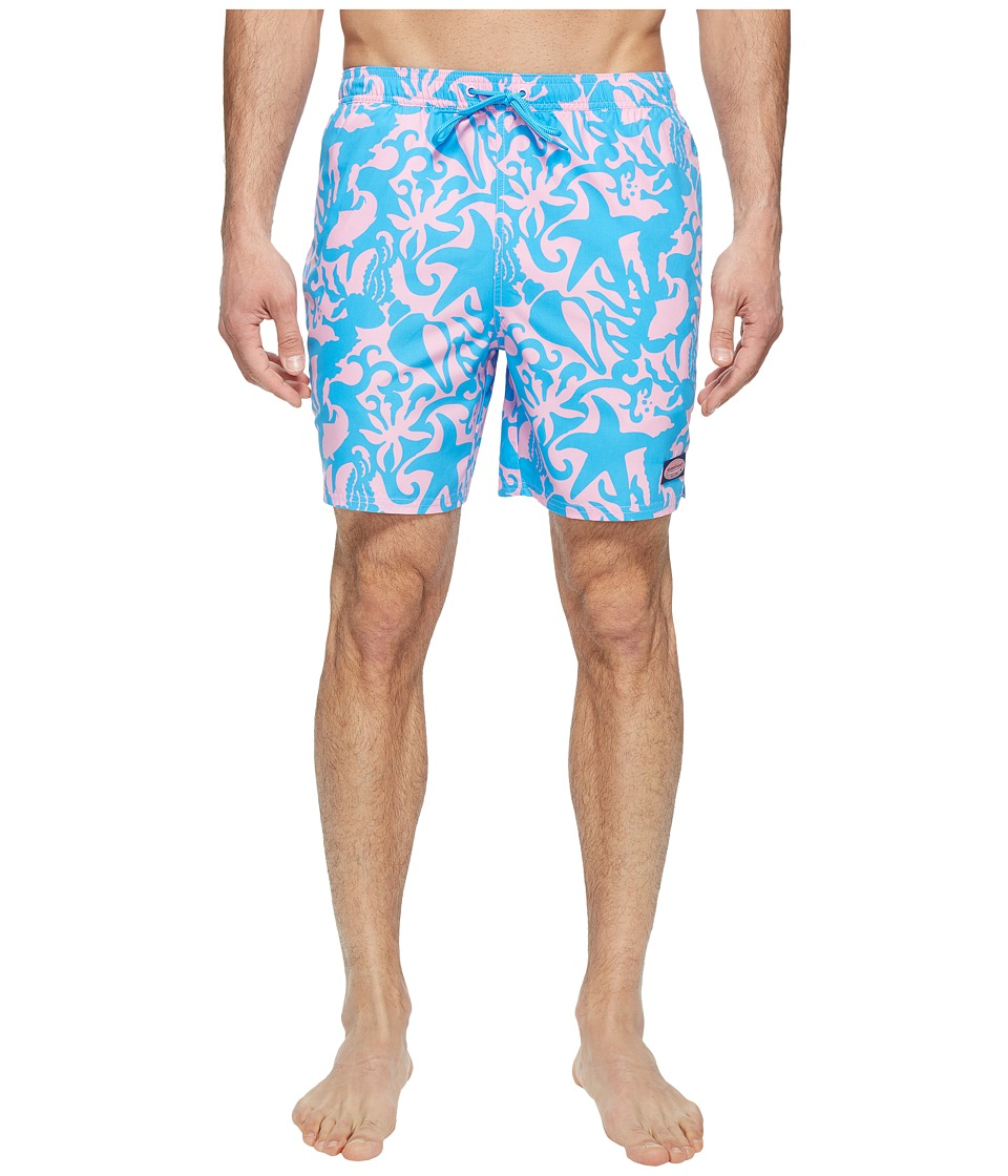 Vineyard Vines - Under the Sea Bungalow (Cotton Candy) Men's Swimwear