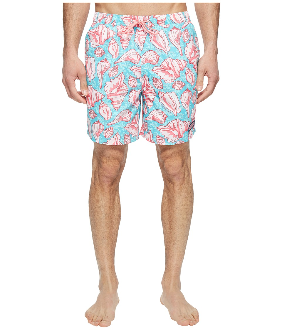Vineyard Vines - Ocean Shells Bungalow (Turquoise) Men's Swimwear